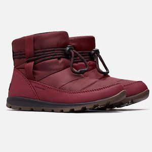 NEW Sorel Whitney Short Red Wine Snow Boots 8.5